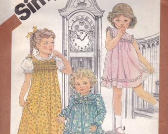 Darling Girl's Dress Pattern Simplicity 5470 Size 6