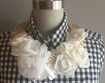 ONE of Kind: Maxi Floral Collar Necklace