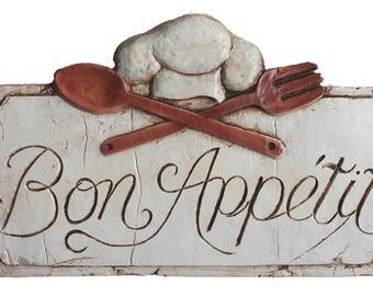 French Kitchen Sign Bon Appetit Large Size