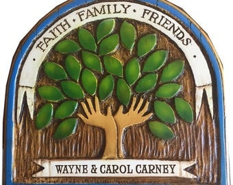 Faith Family Friends Personalized Wall Plaque
