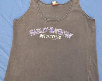 90's Harley Davidson Tank Top T-Shirt Vintage USA Original L Women's Biker Motorcycle Riding