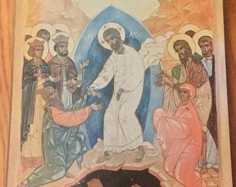 Orthodox Iconography, Jesus Christ with Cruciform Halo Wall Hanging