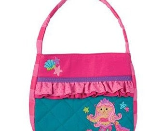 Personalized Stephen Joseph Quilted Mermaid Purse with FREE Embroidery
