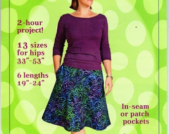 Emilie Skirt Sewing Pattern Rebecca Ruth Designs RRD 601 Two Hour Project