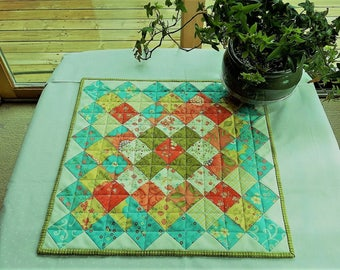 Quilt Table Runner Wall Hanging Cinnamon Spice