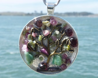 Tree of Life. NEW Tactile Collection. Touch the Emeralds, Rubies, Jade and Garnets with a Rutile. Mandala. Chakra Harmony!