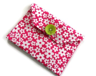 Fabric Gift Card Wallet - Fabric Case for Cards - Business Card Wallet - Gift Wallet for Jewellery