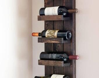 Vertical 5 Bottle Wine Rack