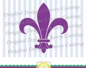 SVG, DXF, EPS Cut file,Fleur De Lis,Carnival &Mardi Gras svg Silhouette Cut Files, Cricut Cut Files CHSVG03   -Personal and Commercial Use