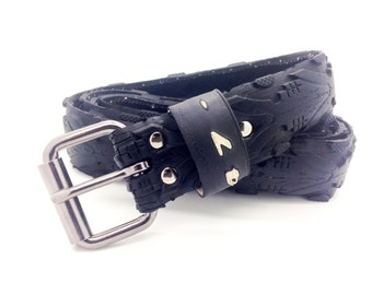 "Bicycle Tire Belt ""47-"" (upcycled vegan handmade) by tirebelt.com - Fall 2016"
