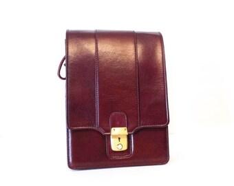 Vintage Camera Shoulder Bag Leather with Key Minolta CLE Rare