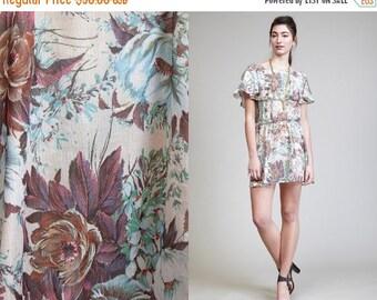 50% OFF ENTIRE STORE Vintage Mini 70s Floral Flutter Dress // boho hippie
