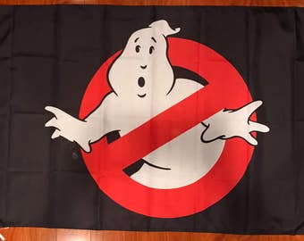 GhostBusters 3'x5 Feet Black Flag Banner Decor Movie Ghost Busters USA Seller