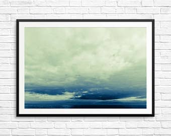 large ocean photo, large water print, large water wall art, canada cottage decor, large blue poster, large landscape art, large water photo