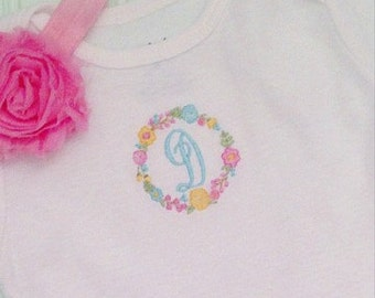 Floral Personalized Shirt or Onesie