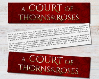 ACOTAR Title Bookmark - A Court of Thorns and Roses Inspired Literary Quote Feyre Rhysand Tamlin Book Nerd Fandom Fan