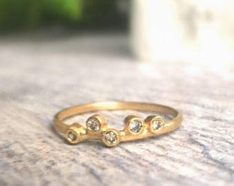 Solid Gold and Diamond Band