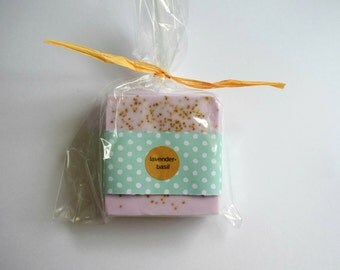Lavender Basil Soap: full size bar natural soap