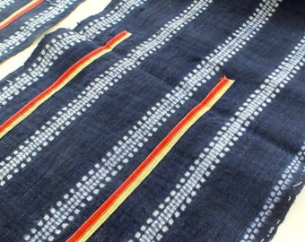 Vintage Hemp, Hmong Handwoven Vintage hemp fabric,  textiles and fabrics- Table runner,