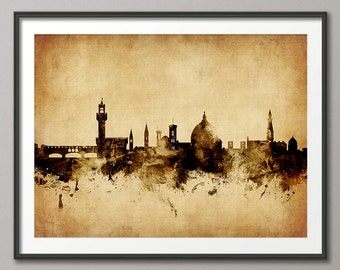 Florence Skyline, Florence Italy Cityscape Art Print (2638)
