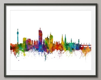 Vienna Skyline, Vienna Austria Cityscape Art Print (2691)