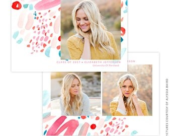 INSTANT DOWNLOAD - Graduation announcement - Photoshop Templates - E1483