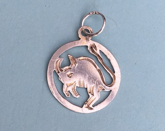 Small  Horned Creature (Devil?) Charm - Vintage Bracelet Charm or Pendant
