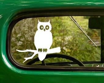 Cute Owl Sticker Etsy - Owl custom vinyl decals for car