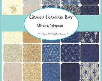 25% Off SALE Grand Traverse Bay Layer Cake by Minick and Simpson for Moda - 14820LC