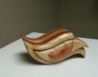 """This sculpted band saw box is called """"Fluid Motion."""""""