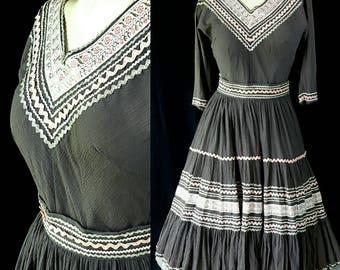 1950s Patio Dress, Faye Creations, Swing Dance, Tourist Dress, Route 66