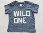 Wild One - Gray Tri-blend Toddler and Baby T-Shirt