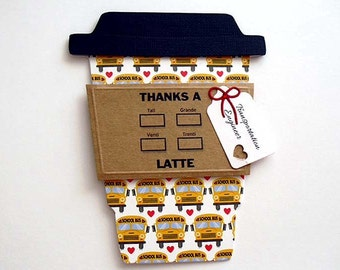 BUS DRIVER Thanks a Latte Gift Card Holder