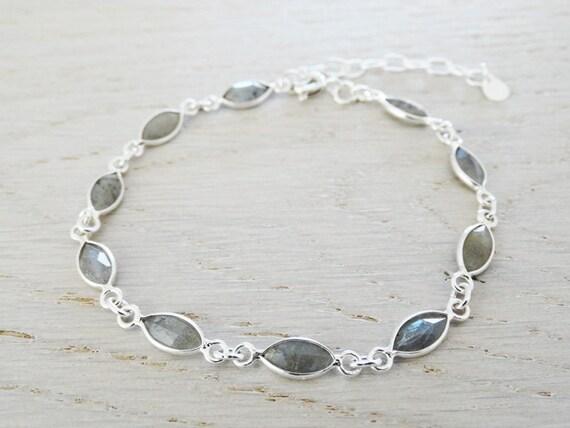 Labradorite & Silver Bracelet - Sterling Silver