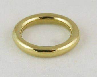 3.67mm 14k / 18k / 22k / 24k Solid Gold Ring -- Full Round Wedding Band - Yellow, Rose, or White