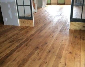 Reclaimed oak flooring -  6.95 per sq ft - 3/4 x 4.5 tongue and groove