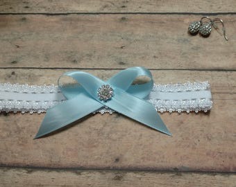 Garter, Blue Garter, Something Blue, Toss Garter, Wedding Garter, Brides Garter, Bride, Rhinestone Garter, Bride, Keepsake Garter