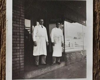 Original Vintage Photograph Butcher Men