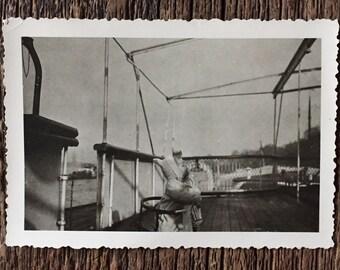 Original Vintage Photograph Baby on Board