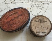 2 Antique Apothecary Pill Boxes, Advertising Pharmacy  Cardboard Pill Boxes, 1900s