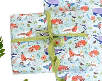 Woodland Gift Wrap 2 pack - Woodland Friends - Gift Wrapping - Wrapping Paper - Woodland Paper - Gift Wrap Paper - Scrapbook Paper