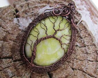 Olive Jade Yggdrasil Tree of Life Norse Mythology
