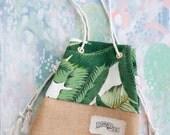 Mini Sandbag in Palm Print