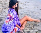 Most popular item, tie dye tye die clothing, fringe kimono, boho  beach poncho, cardigan plus size, hipster clothing, handmade gifting ideas
