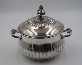 Vintage Silver Plate Bowl and Lid, Vintage Cottage Chic Silverplate Candle Holder, Vintage Silverplate Collectors, Vintage Silver Plate Bowl
