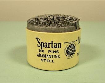 Spartan Desk Pins - Vintage Sewing Desktop Collectible Accessory