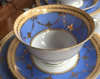 Vintage  english bone china tea cup trio
