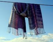 Custom Order Handwoven Silk Scarf / Shawl / Wrap, Unique, Hand dyed