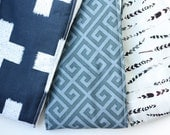Oversized Baby Burp Cloths by JuteBaby - Navy & Feathers