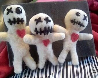 Voodoo Doll! - ONE individual needle felted voodoo doll